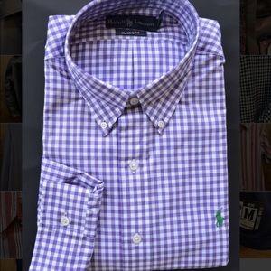 POLO RALPH LAUREN button down dress shirt purple